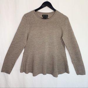 Nanette / Nanette Lepore / Merino Wool Peplum Top